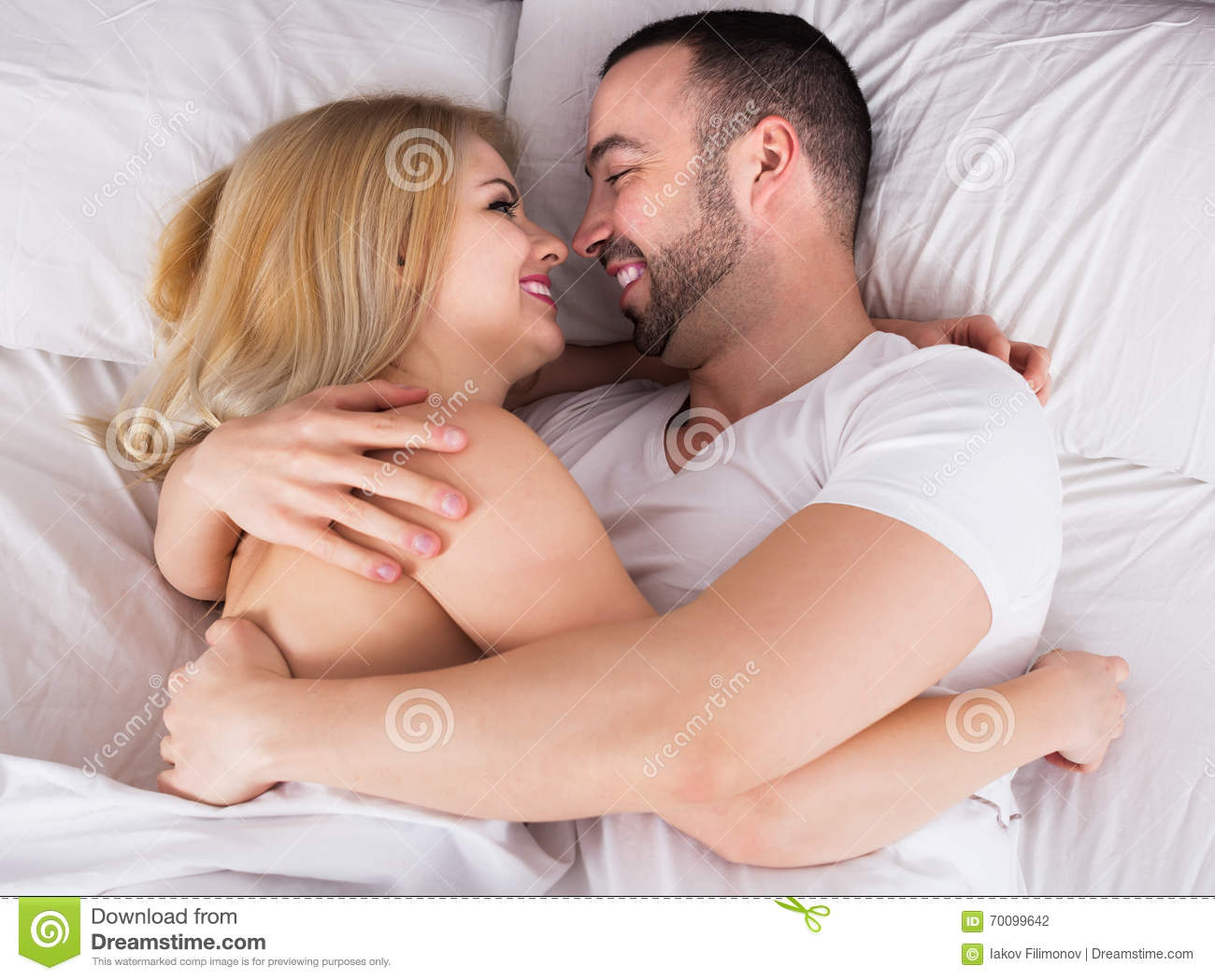 married couple making love
